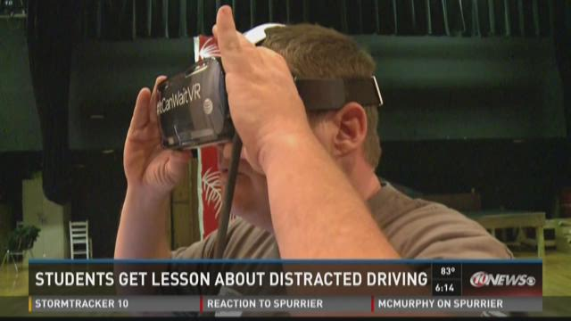 Students get lesson about distracted driving