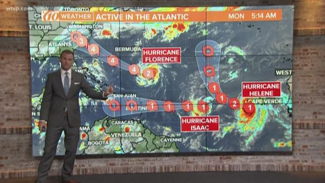 Tracking Hurricanes Florence Helene And Isaac Wtsp Com